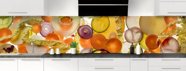 Crédence de cuisine Mix légumes panoramique motif inversé