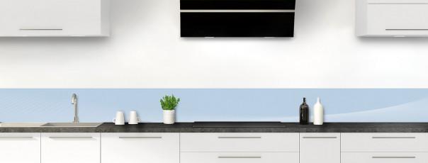Crédence de cuisine Ombre et lumière couleur bleu azur dosseret motif inversé