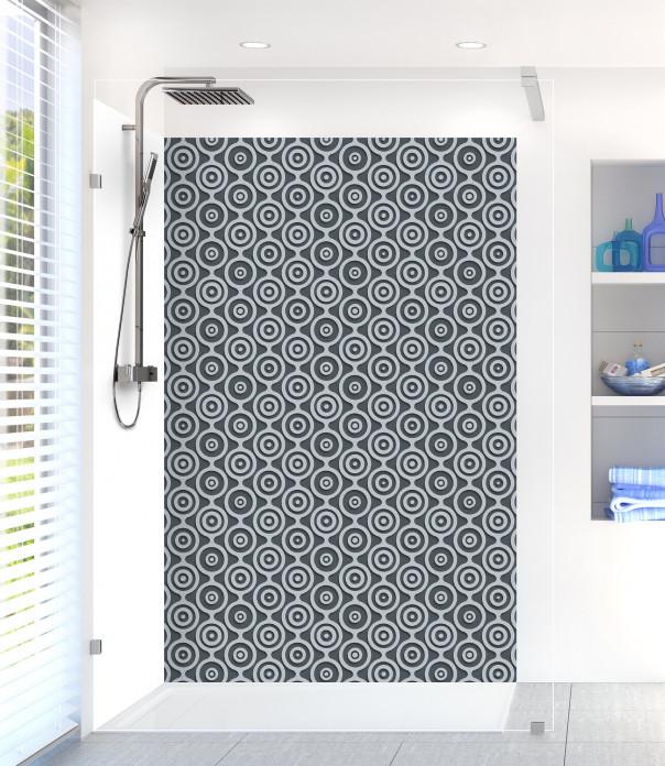 Panneau de douche Papier peint rétro couleur gris carbone