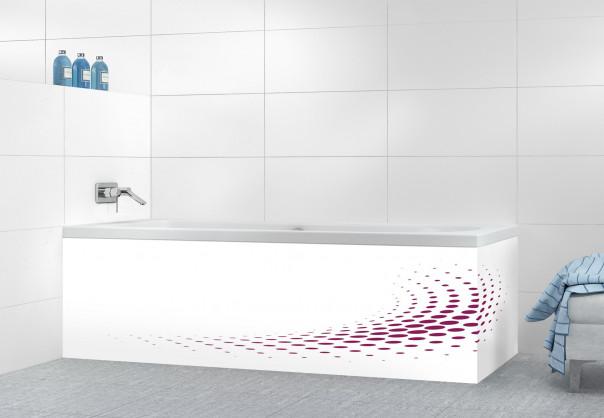 Panneau tablier de bain Nuage de points couleur prune