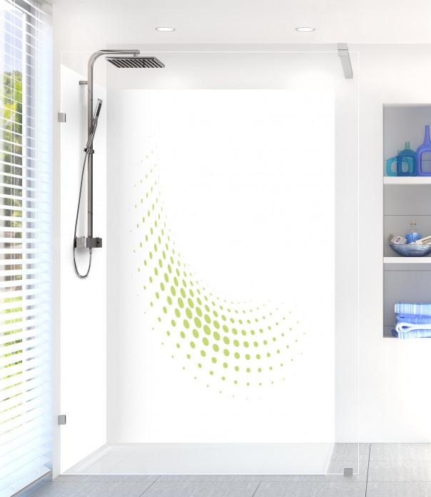 Panneau de douche Nuage de points couleur vert olive