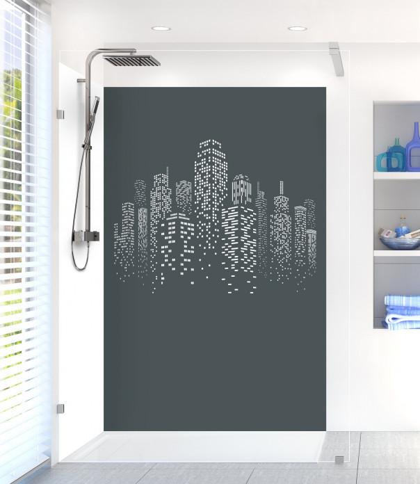 Panneau de douche Gratte-ciels couleur gris carbone