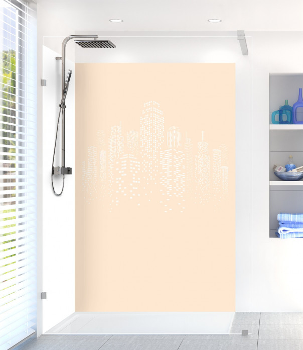 Panneau de douche Gratte-ciels couleur sable