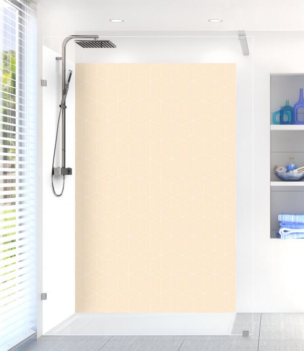 Panneau de douche Cubes en relief couleur sable