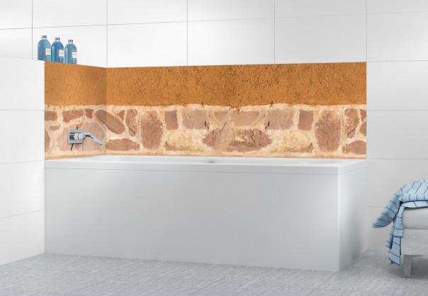 Panneau de bain Mur enduit à la chaux