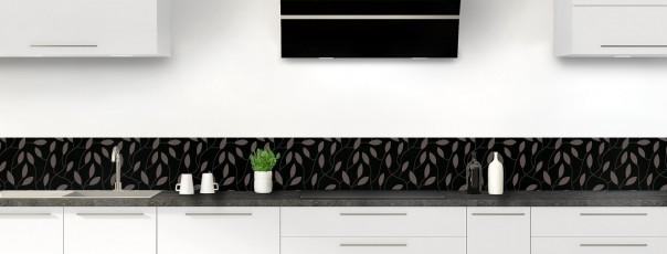 Crédence de cuisine Rideau de feuilles couleur noir dosseret