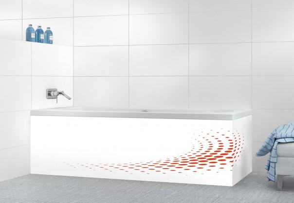 Panneau tablier de bain Nuage de points couleur rouge brique