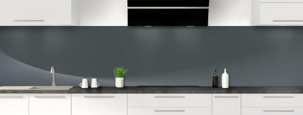 Crédence de cuisine Ombre et lumière couleur gris carbone panoramique
