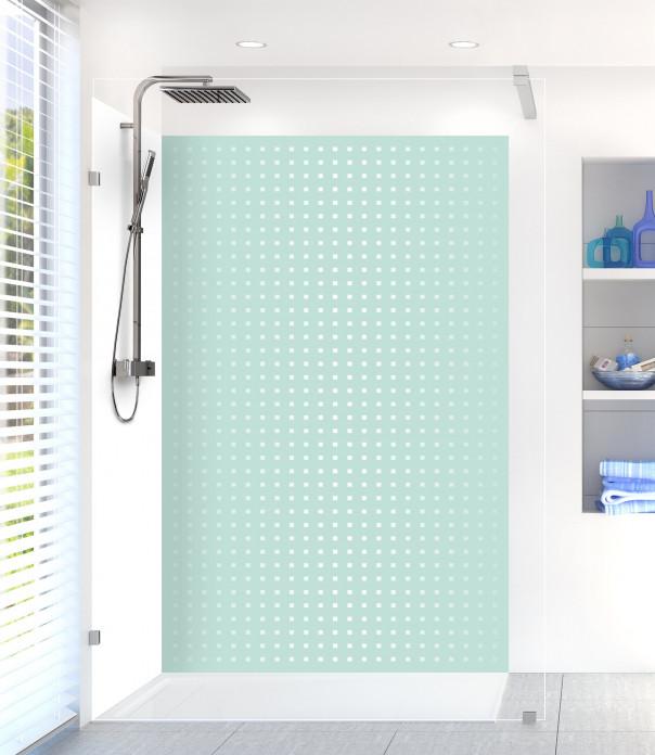 Panneau de douche Petits carrés couleur vert pastel