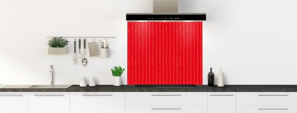 Crédence de cuisine Pointillés couleur rouge vif fond de hotte