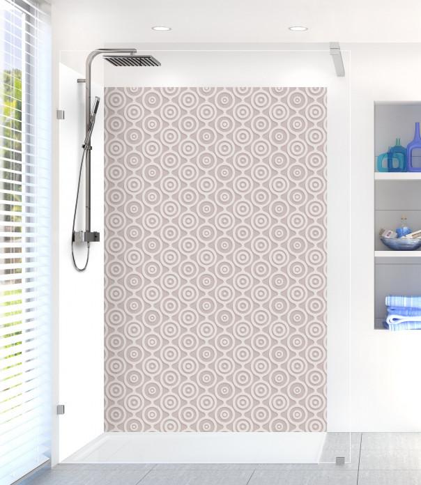 Panneau de douche Papier peint rétro couleur argile