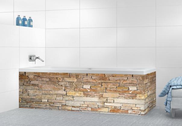 Panneau tablier de bain Briques ocre