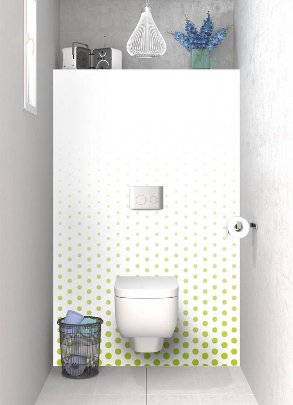 Panneau WC Pluie de points couleur vert olive