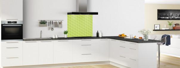 Crédence de cuisine Nid d'abeilles couleur vert olive fond de hotte en perspective