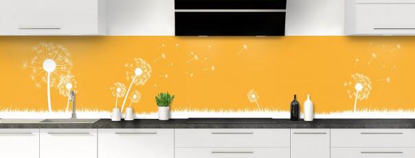 Crédence de cuisine Pissenlit au vent couleur abricot panoramique