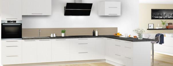 Crédence de cuisine Lignes horizontales couleur marron glacé dosseret en perspective