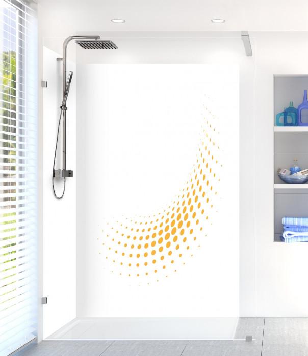 Panneau de douche Nuage de points couleur abricot motif inversé