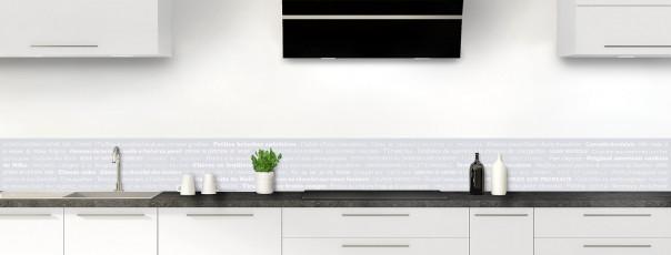 Crédence de cuisine Recettes de cuisine couleur gris clair dosseret