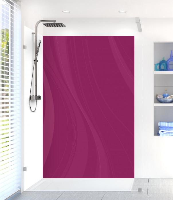 Panneau de douche Voilage couleur prune
