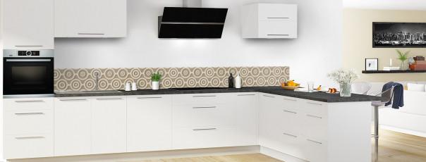 Crédence de cuisine Papier peint rétro couleur marron glacé dosseret en perspective