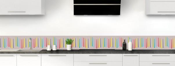 Crédence de cuisine Barres colorées couleur argile dosseret