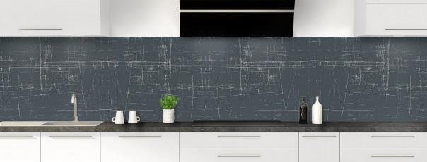 Crédence de cuisine Ardoise rayée couleur gris carbone panoramique
