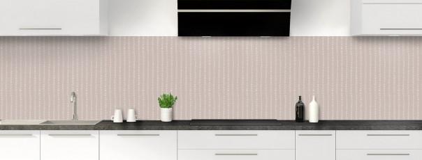Crédence de cuisine Pointillés couleur argile panoramique