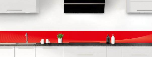 Crédence de cuisine Ombre et lumière couleur rouge vif dosseret motif inversé