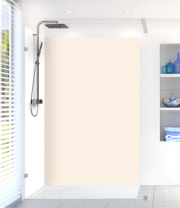 Panneau de douche Origami  couleur magnolia
