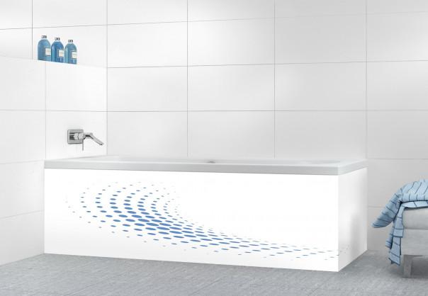 Panneau tablier de bain Nuage de points couleur bleu lavande motif inversé