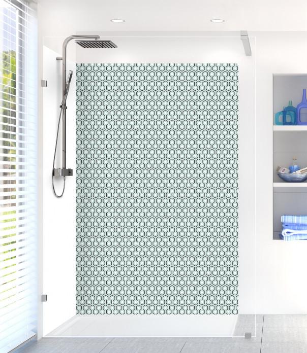 Panneau de douche Hexagones  couleur vert pastel