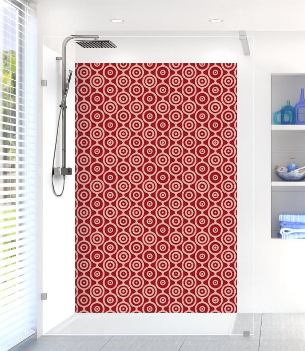 Panneau de douche Papier peint rétro couleur rouge carmin