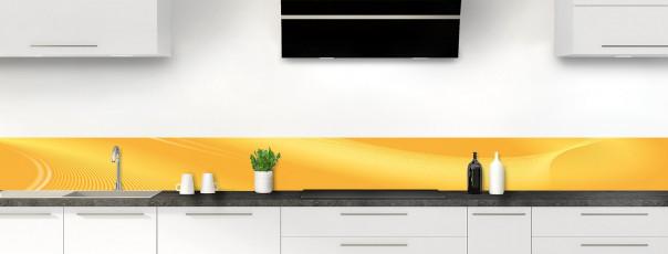 Crédence de cuisine Volute couleur abricot dosseret motif inversé