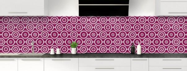 Crédence de cuisine Papier peint rétro couleur prune panoramique