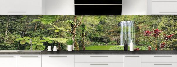 Crédence de cuisine Cascade tropicale panoramique motif inversé