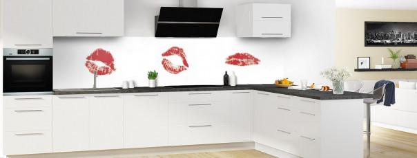 Crédence de cuisine Bisous panoramique en perspective