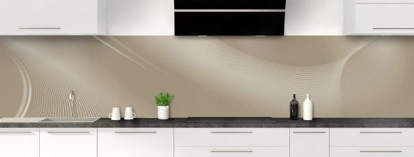 Crédence de cuisine Volute couleur marron glacé panoramique motif inversé