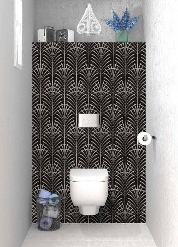 Panneau WC Feuilles de paume couleur argile