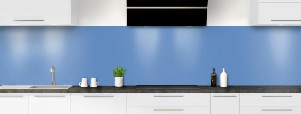 Crédence de cuisine Bleu lavande panoramique
