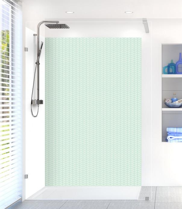 Panneau de douche Origami  couleur vert eau