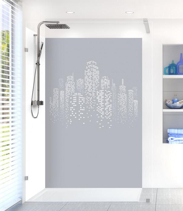 Panneau de douche Gratte-ciels couleur gris métal