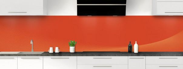 Crédence de cuisine Ombre et lumière couleur rouge brique panoramique motif inversé