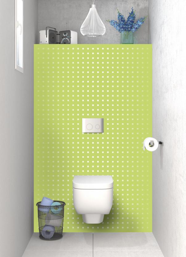 Panneau WC Petits carrés couleur vert olive