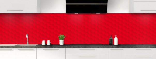 Crédence de cuisine Nid d'abeilles couleur rouge vif panoramique