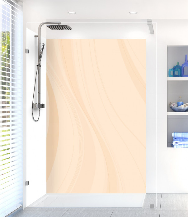 Panneau de douche Voilage couleur sable