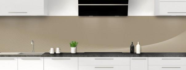 Crédence de cuisine Ombre et lumière couleur marron glacé panoramique motif inversé