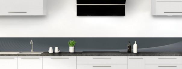 Crédence de cuisine Ombre et lumière couleur gris carbone dosseret motif inversé