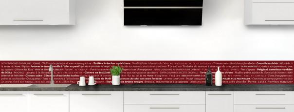 Crédence de cuisine Recettes de cuisine couleur rouge pourpre dosseret