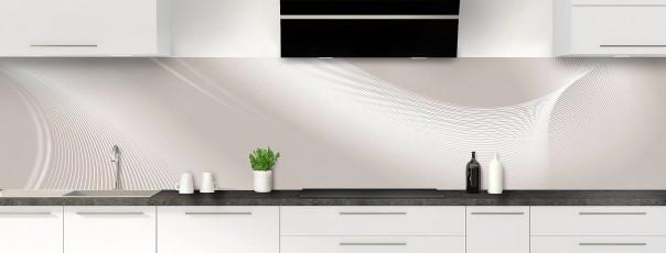 Crédence de cuisine Volute couleur argile panoramique motif inversé