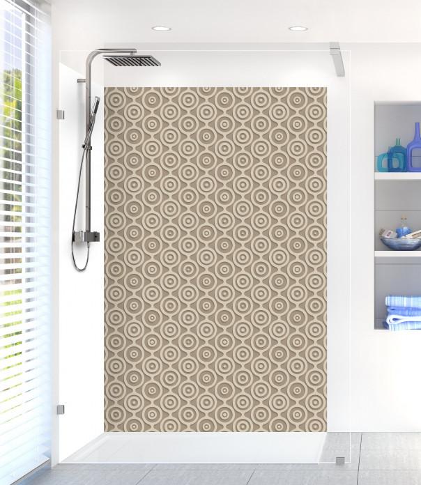 Panneau de douche Papier peint rétro couleur marron glacé